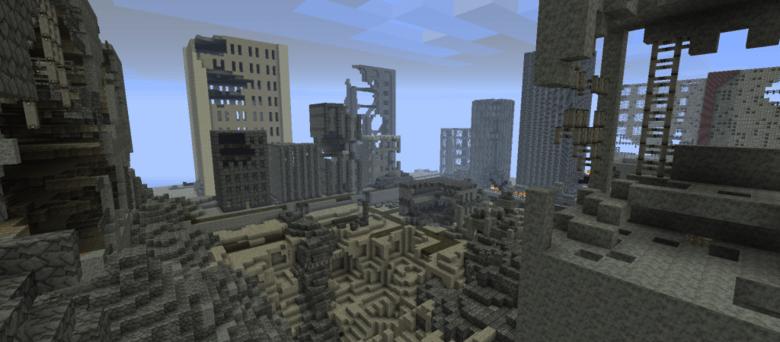 Скачать карту Fallout rebuilding humanity для Minecraft