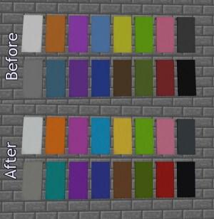 Kolory banerów przed i po aktualizacji.